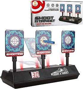 Little Valentine [2020 Upgraded Edition] Electric Scoring Auto Reset Shooting Digital Target for Nerf Guns Blaster Elite/Mega/Rival Series