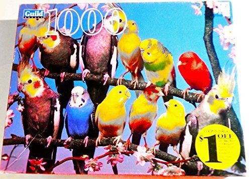 Guild 1000 Piece Jigsaw Puzzle - , Canaries. Parakeets and Fairy Parrots (20 1/8 X 27 1/2 in / 51.12 X 69.85 cm) -  Habro, 04710-12