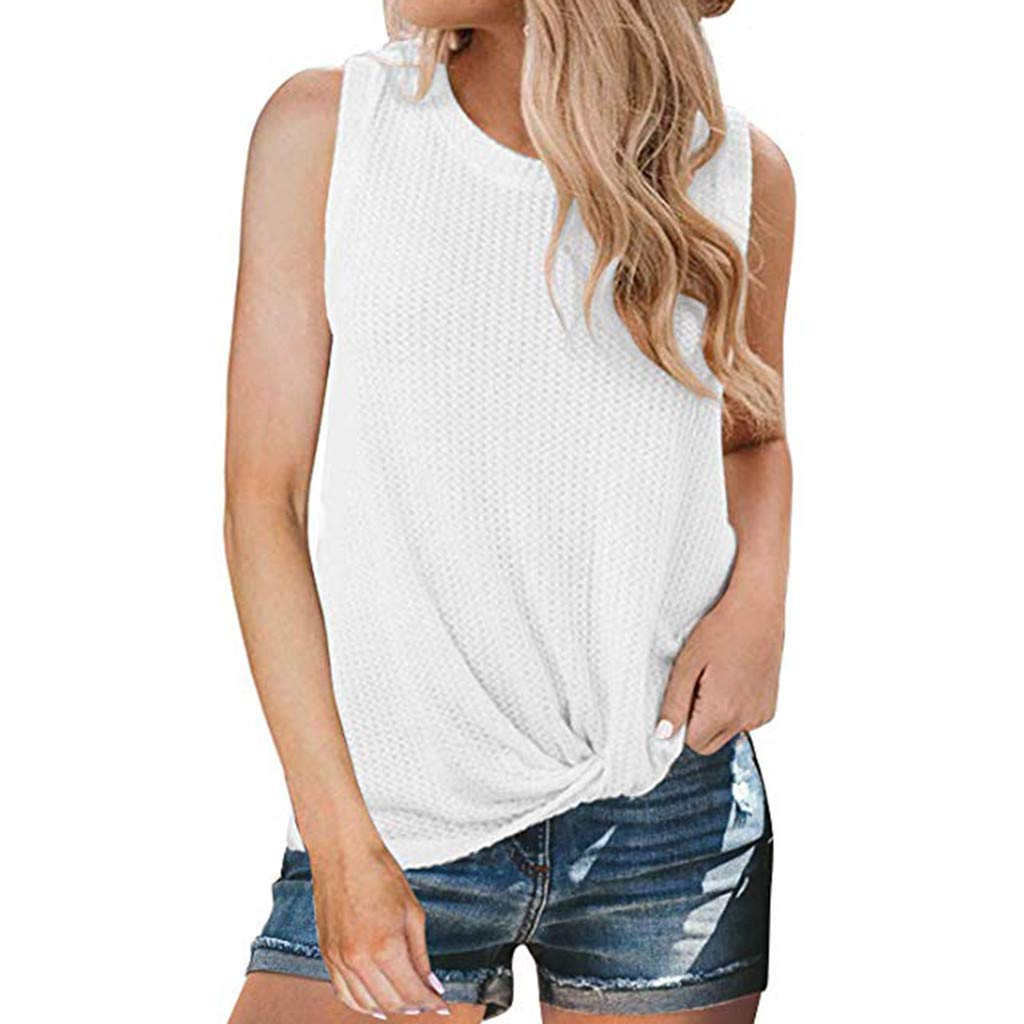 Gibobby Women Tank Top Tank Tops for Women Graphic Tees Funny Crew Neck Sleeveless Workout T Shirts with Sayings White