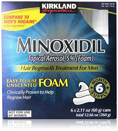 Kirkland Signature Minoxidil Foam for Men, 12.66oz  (6x2.11oz=12.66oz) by Kirkland Signature