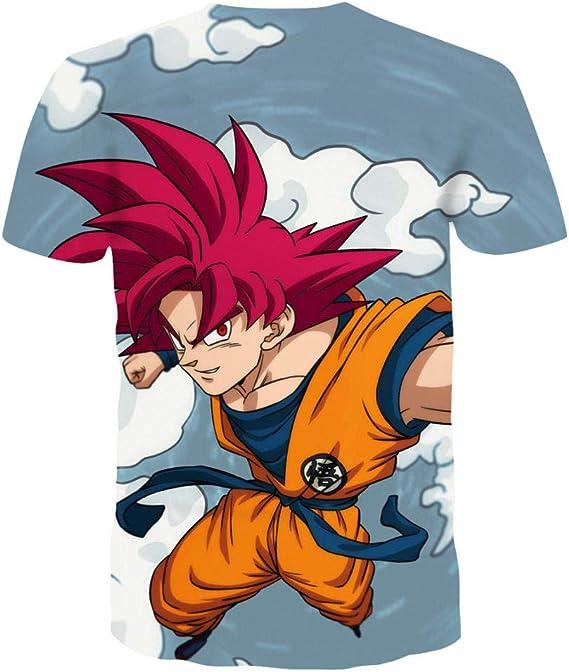 MEIPINPAI Camisetas Camiseta de Dragon Ball para Hombre ...