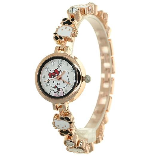 b01deca88712 Fashion Bracelet Watch Clock Gift Woman Luxury Brand Watches Kitty Watch  Women Round Case Dress Jewelry