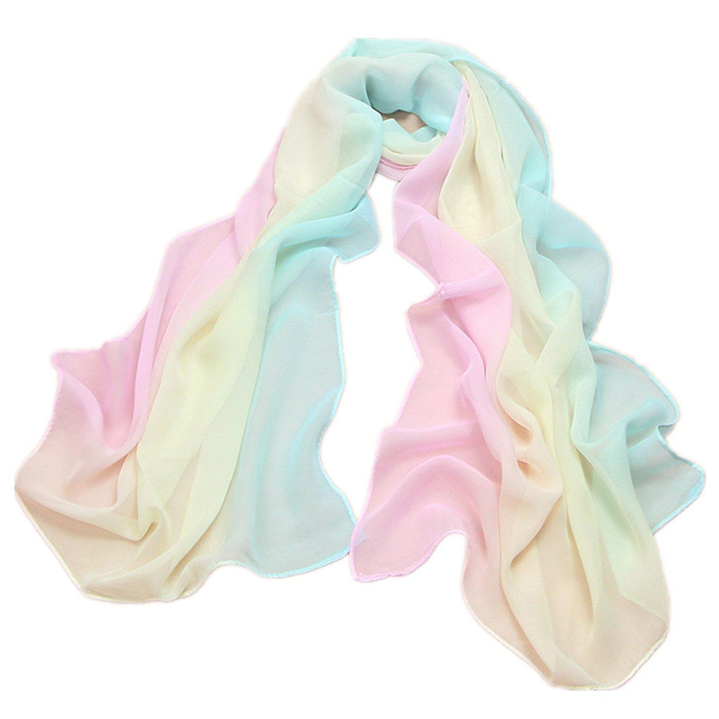 Gradiente colores gasa bufandas - Protección solar, Ciclismo, toallas de playa: Amazon.es: Ropa y accesorios