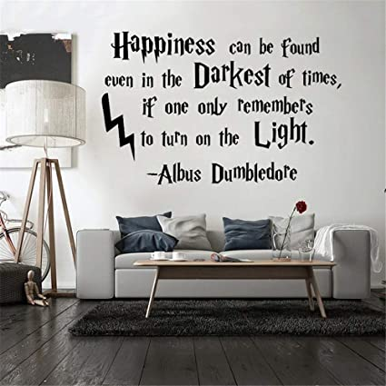 Amazon.com: Happiness Hogwarts Quote Vinyl Wall Sticker for ...