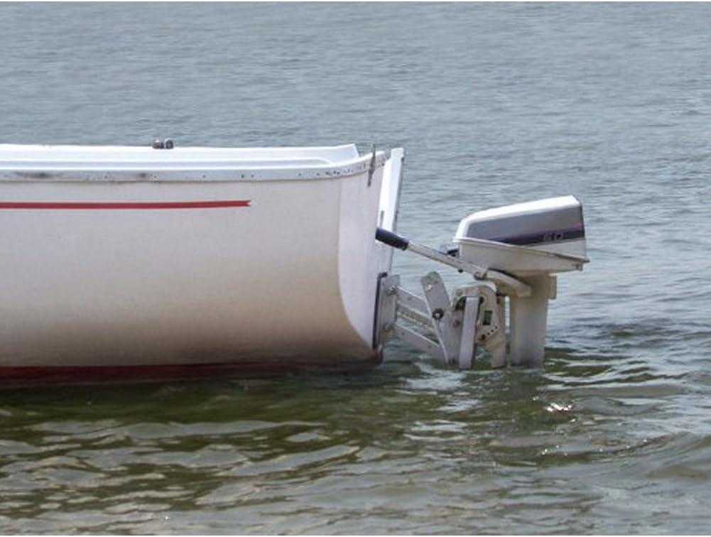Aluminum Outboard Mount Motor Board Bracket Trolling Dingy Boat 2-stroke Great