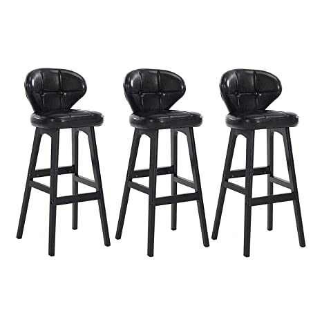 Fine Amazon Com Htsy Black Breakfast Bar Stools Set Of 3 Theyellowbook Wood Chair Design Ideas Theyellowbookinfo