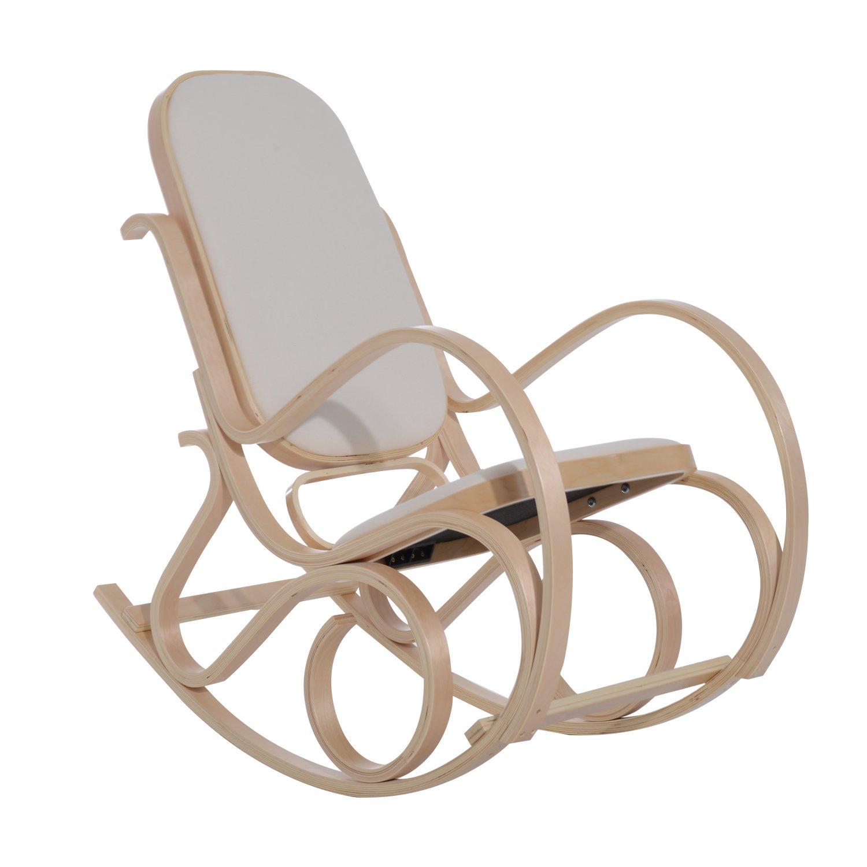 HOM Antique Rocker Wooden Rocking Chair Lounger Relaxing