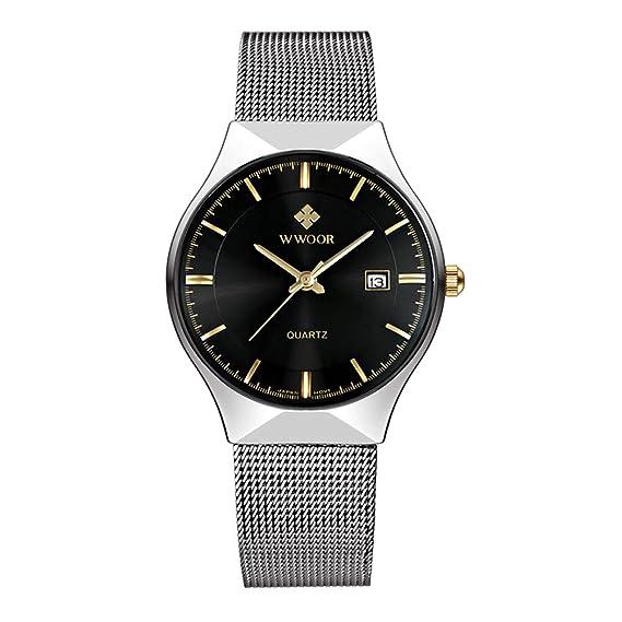 Kauo - Reloj de pulsera para hombre, de cuarzo, estilo informal, con calendario