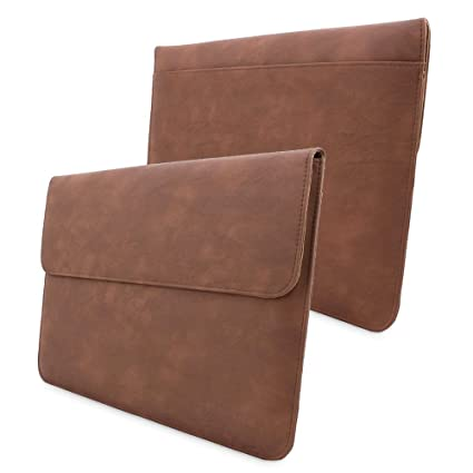 meet 7e19c 32274 Macbook Pro 15 Sleeve, Snugg - Brown Leather Sleeve Case Protective Cover  for Macbook Pro 15