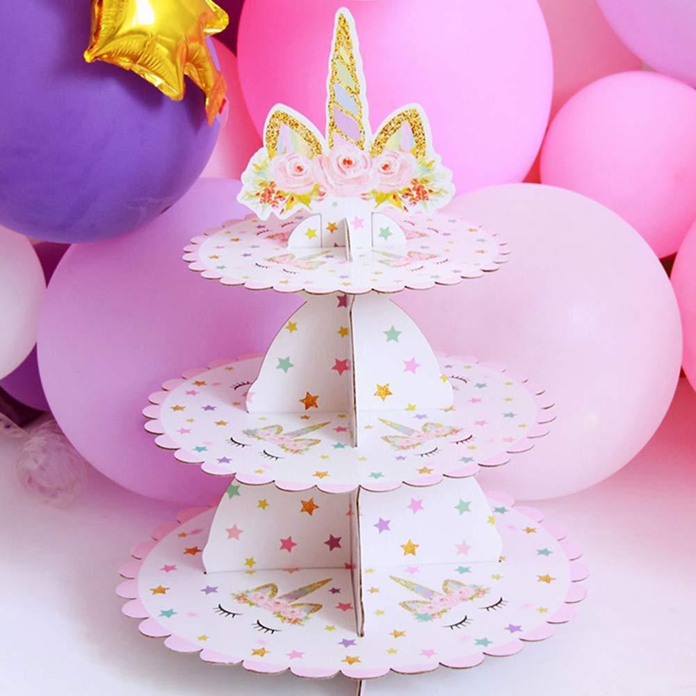 Ruiting Torta de cumpleaños del Unicornio Soporte artículos ...