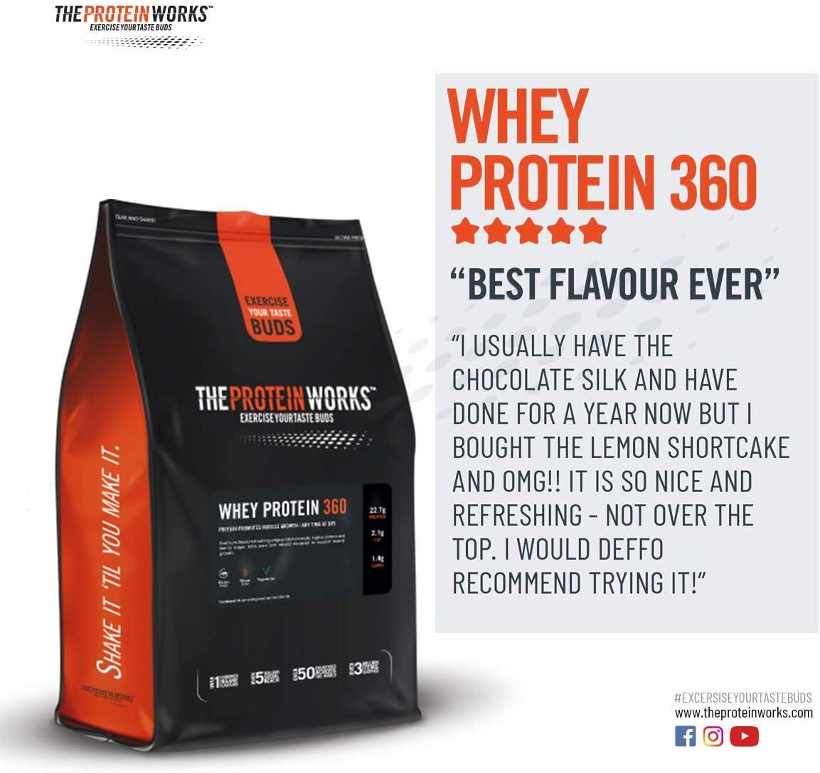 THE PROTEIN WORKS Whey Protein 360 | Batido Alto En Proteínas Para Construir Músculo| Combinación TRI-Proteica | Caramelo Cremoso | 600g