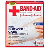 Band-Aid Shower Care Bandage Protector, Medium, 4 Count (3 Pack)