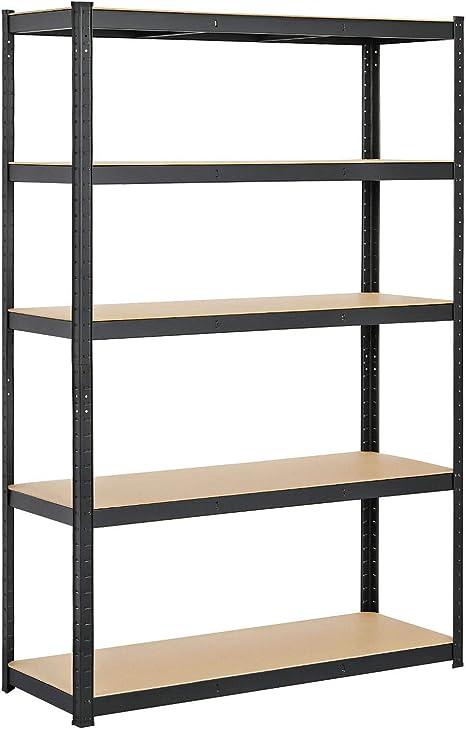 Yaheetech 5 Shelf Storage Shelving Unit Heavy Duty Commercial Shelves Metal Rack Shelf Height Adjustable Storage Racks For Garage Warehouse Kitchen 47 2 X 17 7 X 71in Kitchen Dining