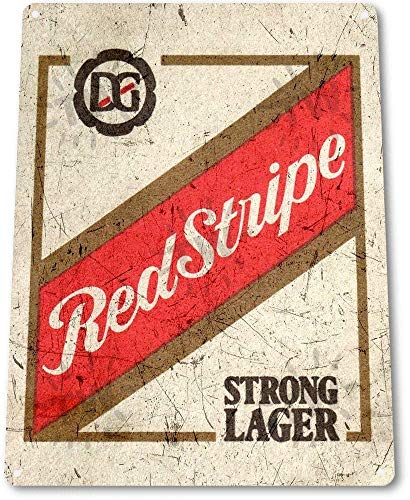 (OVCC Metal tin Sign 7.8inch11.8inches TIN Sign Red Stripe Beer Old Lager Metal Decor Art Bar Pub Shop Store A776)