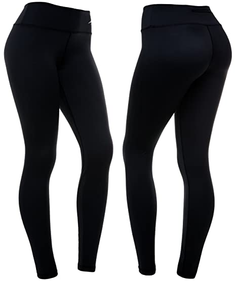 2930b445cd CompressionZ Women s Compression Pants (Black - XS) Best Full Leggings  Tights for Running