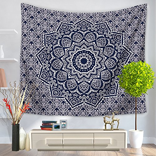 Why Choose ChezMax Mandala Hippie Bohemia Square Polyester Tapestry Multi Purpose Decorative Wall Ha...