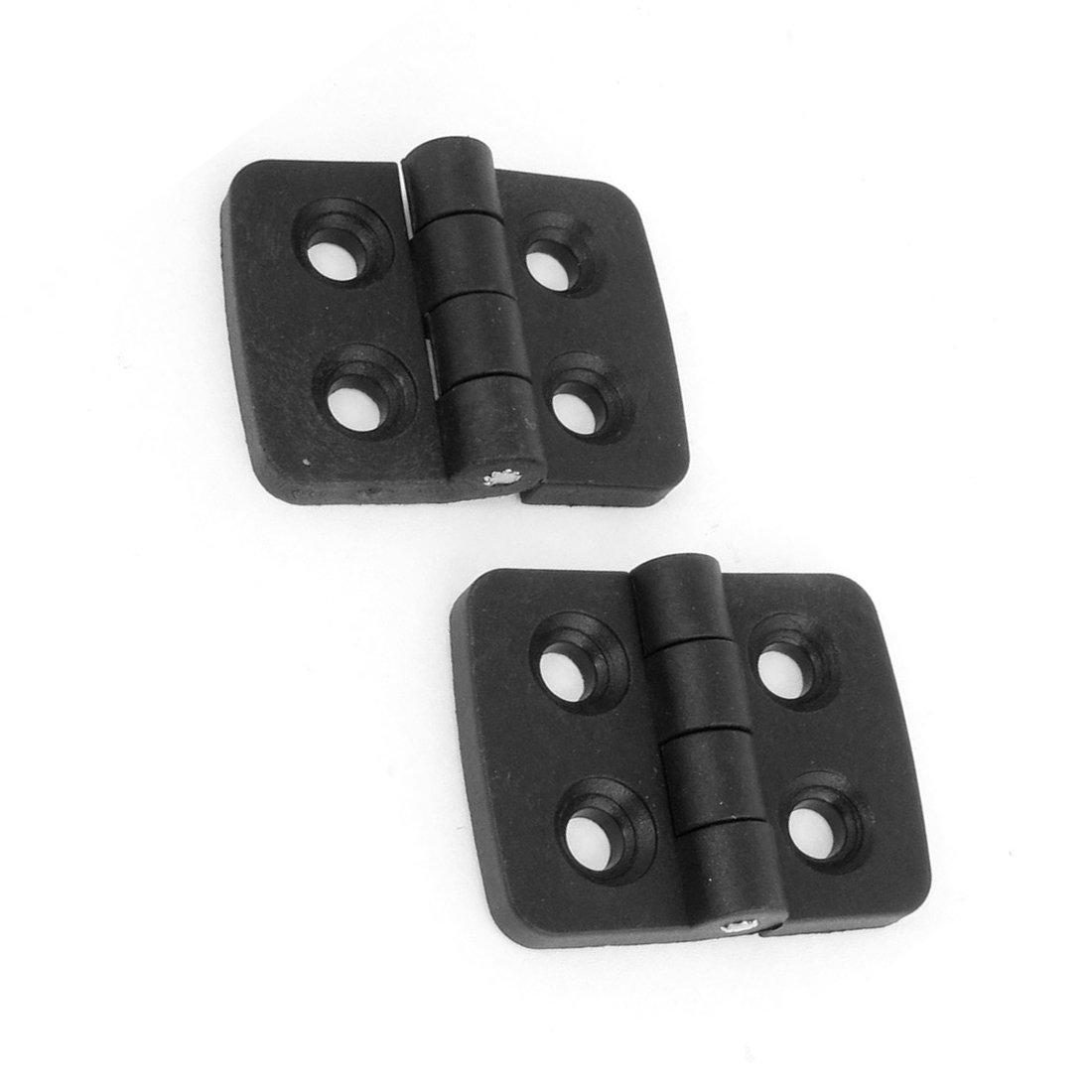 R Scharnier SODIAL 2 Stk schwarz Einzel Metall Axle Kunststoff Kleiderschrank Tuer Scharnier