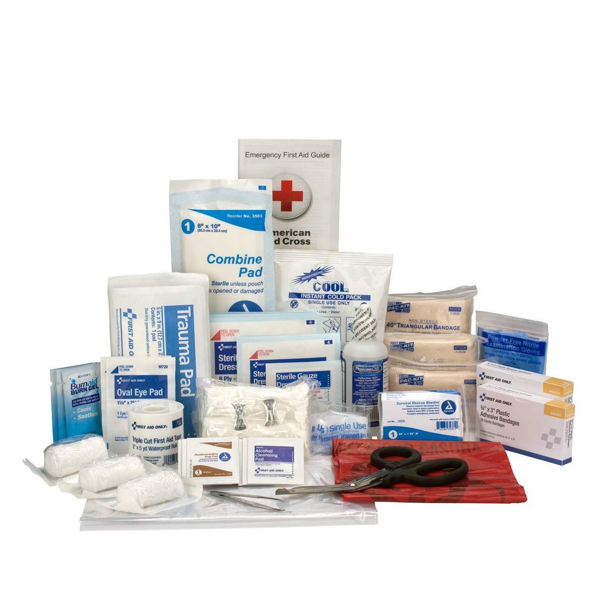 First Responder Kit, Medium Refill Pack   First Responder Bag Trauma Kit Medical Bag Emergency Kit Brite Safety BS-FAK-510-FR/REFILL-1-FM