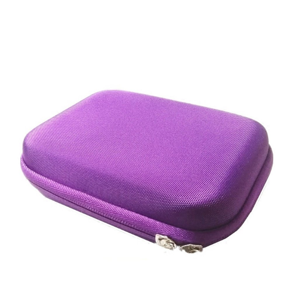 Casecover Portable 10 Roller Bottles Essential Oil Case Carry Holder Storage Bag 1pcs Purple