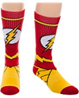 DC Comics Flash Suit Up Crew Socks One size fits most men, women and teens