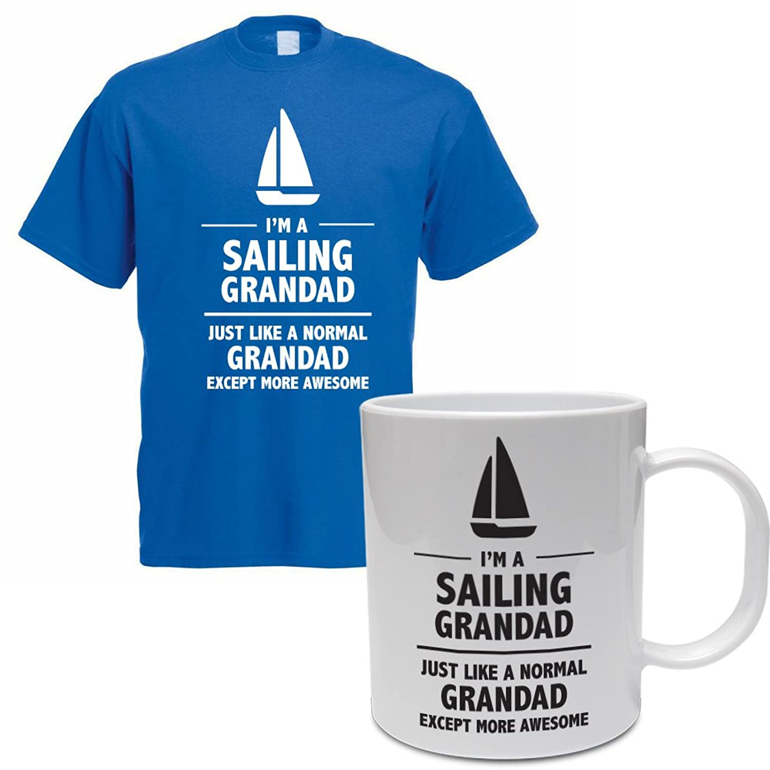 I'M A SAILING GRANDAD - Father's Day / Sporting Gift / Novelty / Men's T-Shirt And Ceramic Mug Gift Set