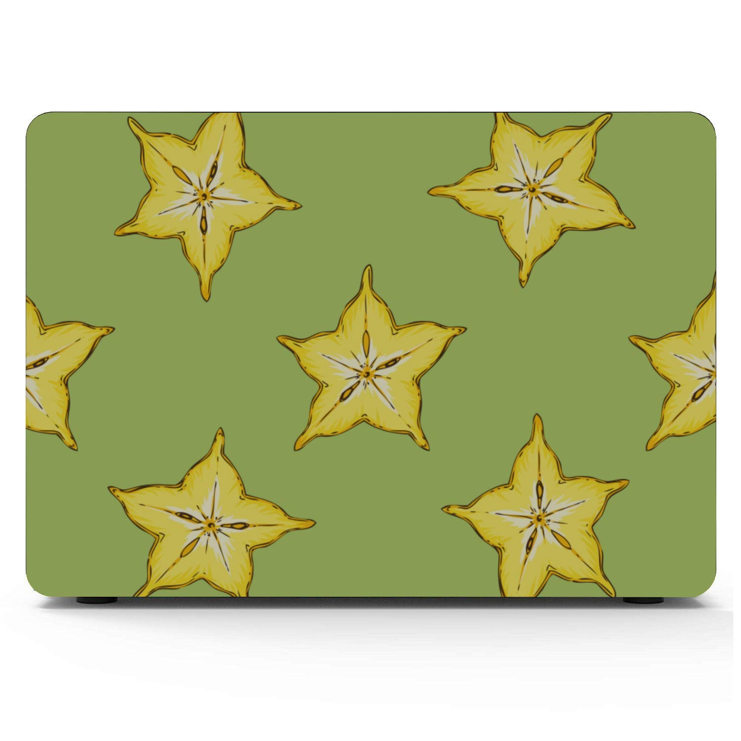 Mac Book Cases Rustic Fashion Cute Fruit Carambola Plastic Hard Shell Compatible Mac Air 11 Pro 13 15 MacBook Air Cases Protection for MacBook 2016-2019 Version