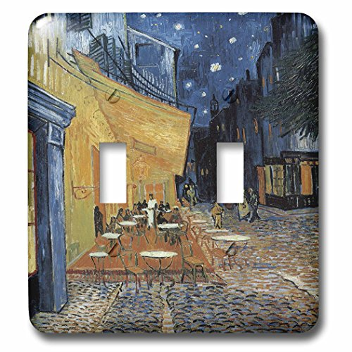 - 3dRose lsp_149687_2 Terrace of A Cafe at Night by Vincent Van Gogh - Double Toggle Switch