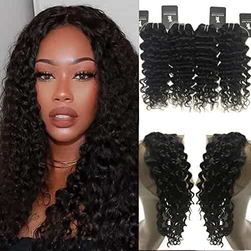 Tinashe Hair Brazilian Hair Weave Bundles Remy Human Hair Lace Frontal With Bundles Curly Bundles With Frontal Closure To Have A Unique National Style Home