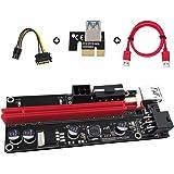 N.ORANIE USB 3.0 PCI-E Express PCI-E 1X to 16X ライザー エクステンダーカード USB 3.0 PCI-E Express 拡張子ケーブル ビットコイン採掘 マイニング 4pin 6Pin PCI-E 1個セット