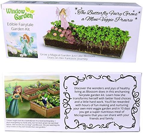 Window Garden Microgreen Fairy Garden Kit. Create a Mini Veggie Prairie Just Like Blossom The Fairy. Story Included. Educational and Fun