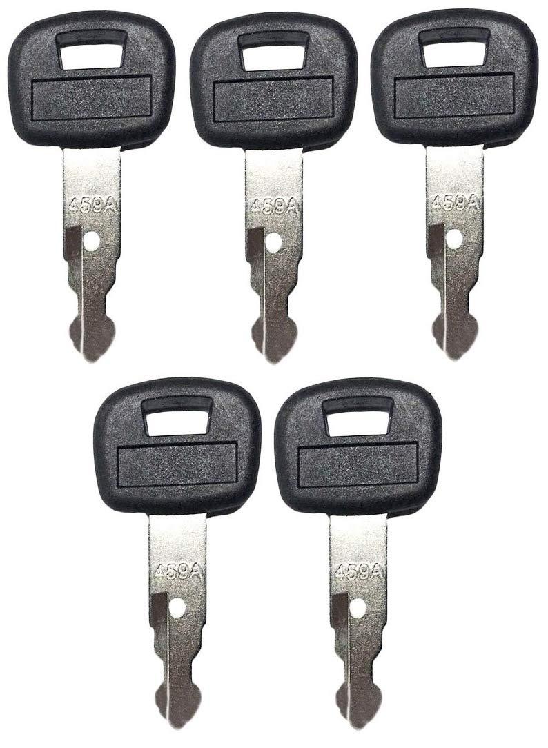 Backhoe 2 459A Track Loader RC411-53933 2 Pack Keys for Kubota Mini Excavator Skid Steer RC461-53930