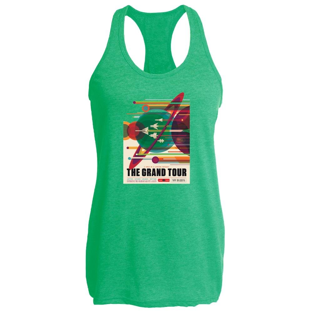 Pop Threads The Grand Tour NASA Space Travel Heather Kelly M Womens Tank Top