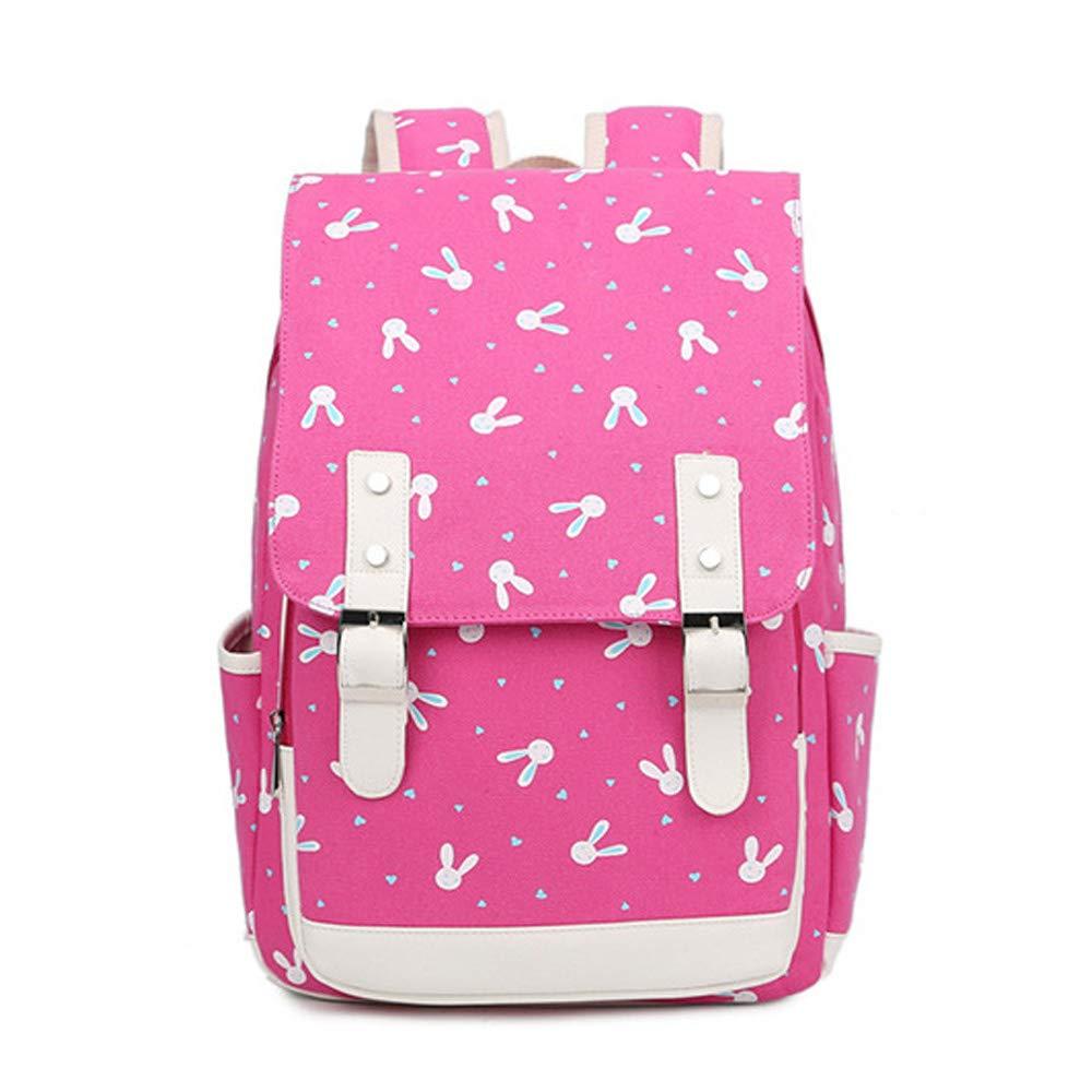 Greeniris Kids Cute Waterproof Nylon School Backpack for Teenage Girls