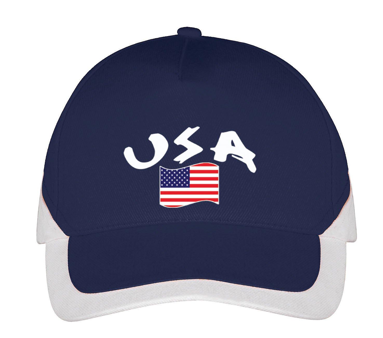 Bleu Supportershop USA Casquette Mixte Adulte FR Fabricant Taille Unique