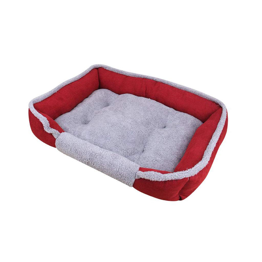60cm Pet Bed for Cats Small Dogs, Soft Comfy Washable Non-Slip Cat Dog Bed Pet Warm Basket Cushion (Size   60cm)