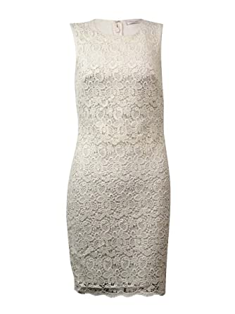c054ed55 Calvin Klein Women's Sleeveless Floral Lace Stretch Sheath Dress at Amazon  Women's Clothing store: