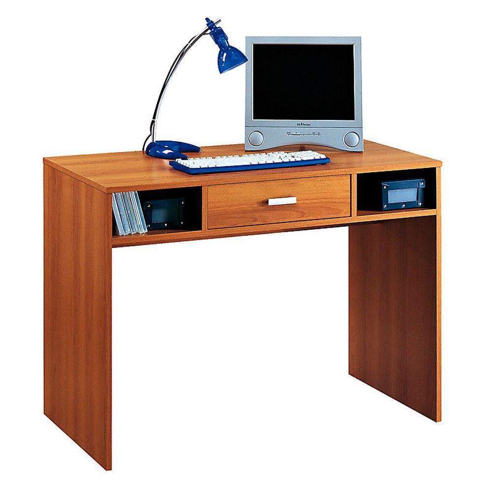 Divina Home Scrivania Porta PC Legno Colore Noce 104x52x76cm Ufficio DH53769