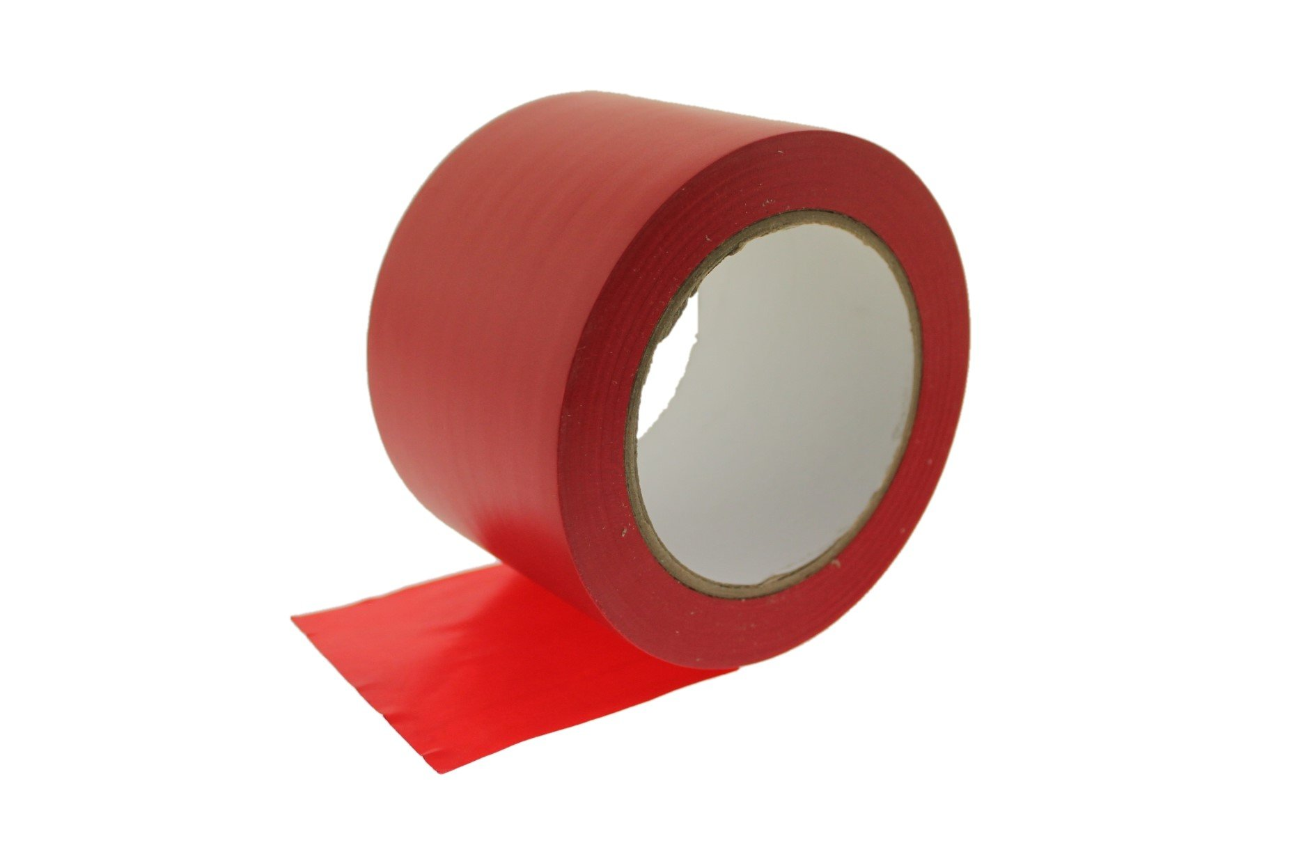 3'' Red Vinyl Tape PVC Electrical Sealing Floor OSHA Safety Marking Natural Rubber Adhesive (2.83 in 72MM) 36 Yard 7 mil