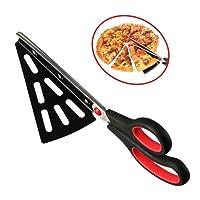 flintronic Ciseaux à Pizza en Acier Inoxydable de 28cm, Cuisine Cisailles en Ciseaux avec Pelle Pizza détachable, (Multi-fonction pas seulement pour pizza) Gadget de cuisine