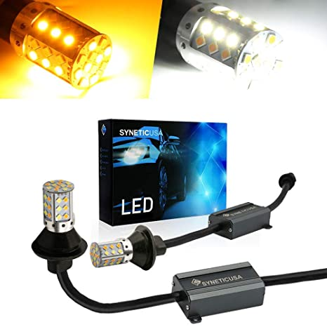 Amazon.com: Error Free Dual Color Switchback DRL LED Turn Signal Light Bulbs No Hyper Flash Built-in Resistors All in One (7443): Automotive