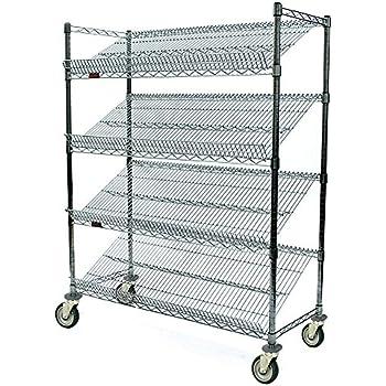 6 Height x 48 Width x 18 Depth 400 lb Quantum Storage Systems 1848SL-2 Slanted Shelf Load Capacity Chrome Finish Pack of 2