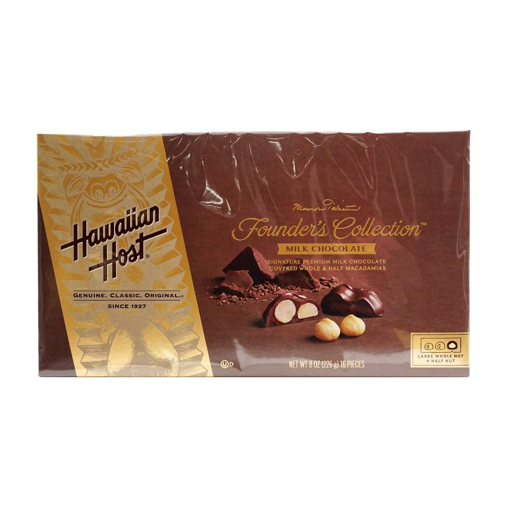 Hawaiian Host Chocolate Covered MACADAMIA NUTS BOX NET WT 8 OZ (226 g)