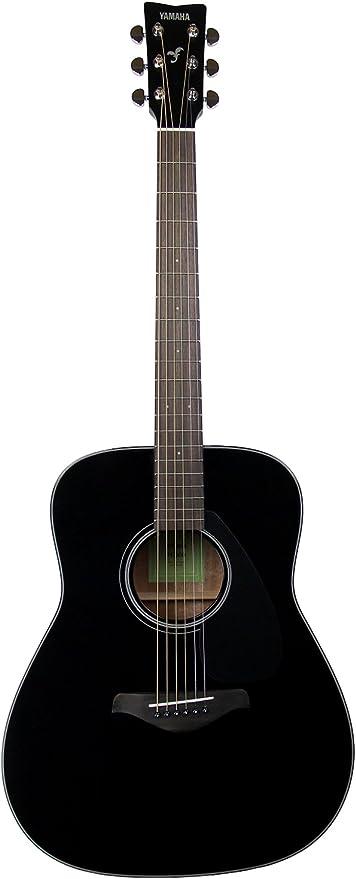 Yamaha fg800 (tipo dreadnought guitarra acústica – negro: Amazon ...