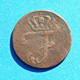 1759 DE German States Mecklenburg-Schwerin Friedrich 6 Pfennig Coin Very Fine Detials