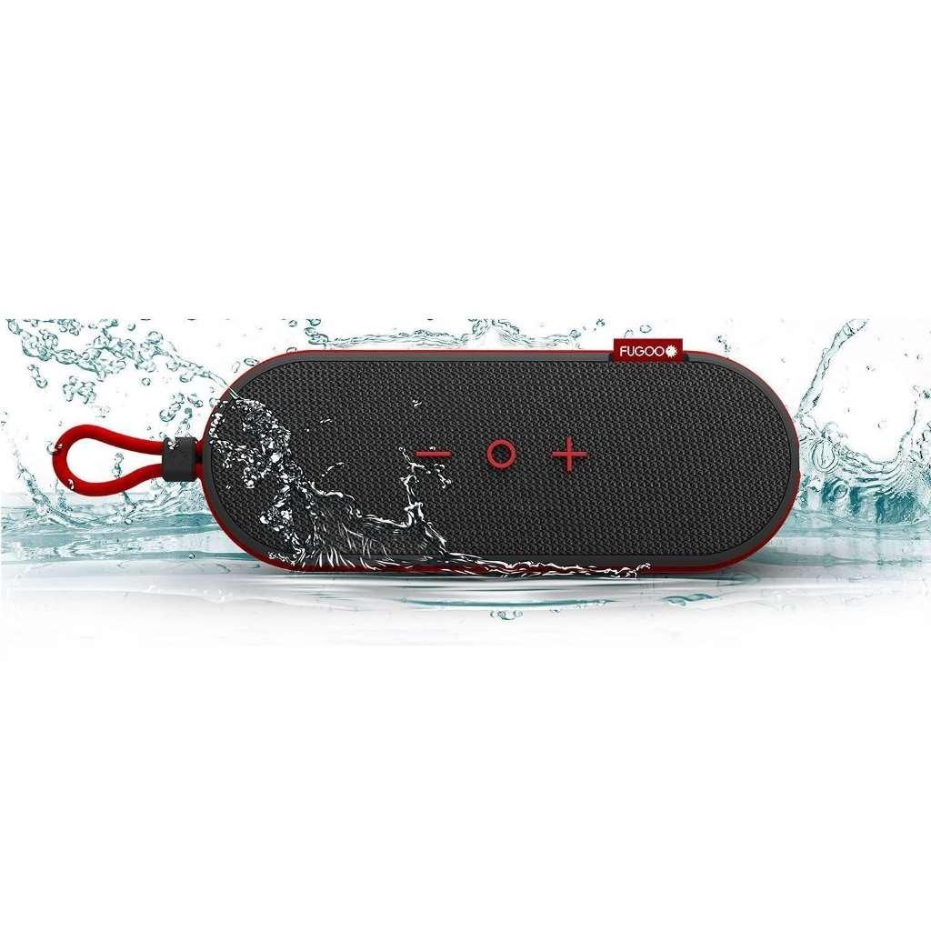 Fugoo GoポータブルBluetoothスピーカー(ブラック/レッド) 耐衝撃、防塵と100 %防水 B0741VKJ7F