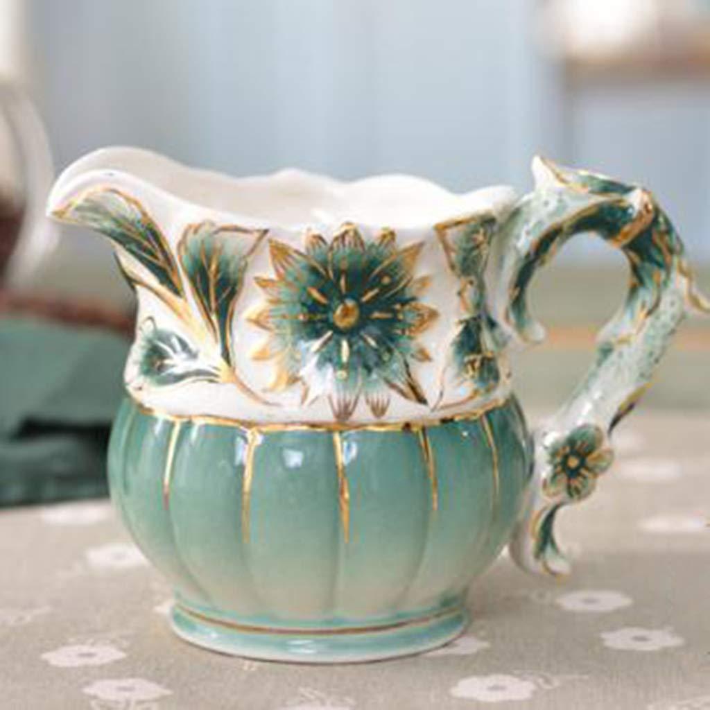 CSQ Coffee Cup Afternoon Tea Set, Ceramic Coffee Pot Household Eight-Piece Tea Set Scented Tea Teapot Capacity: 1050ml Afternoon Tea (Color : Green) by Tea set-CSQ (Image #6)