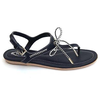 Buy ladies navy blue flat sandals cheap
