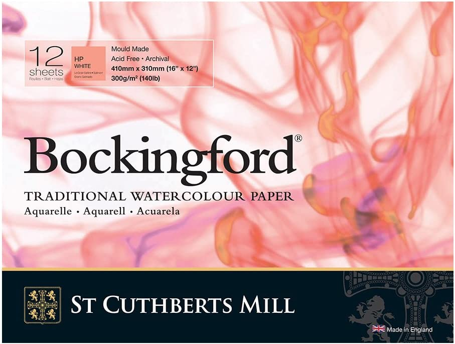 Bockingford 300gsm Glued Pad 16 x 12 Hot Pressed 410 x 310mm
