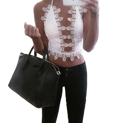 Leezeshaw - Camiseta de tirantes - para mujer