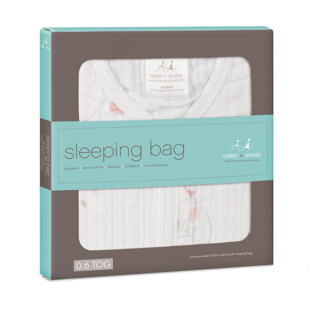 aden + anais 8080G - Saco de dormir clásico, prelavado y fabricado con muselina de 100% algodón: Amazon.es: Bebé